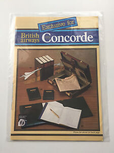 CONCORDE-BRITISH-AIRWAYS-VINTAGE-GIFT-BROCHURE-amp-ORDER-FORM-OLD-CROWN-LOGO-BA