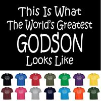 Worlds Greatest Godson Funny Birthday Christmas Gift Youth Or Adult T Shirt