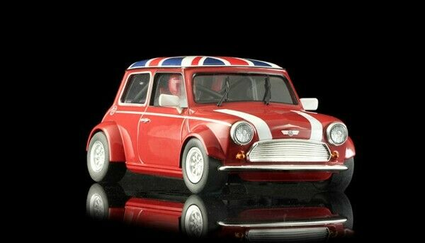 BRM 1 24 Slotcar Mini Cooper Union Jack Edition rot BRM096R Carrennbahn NEU OVP