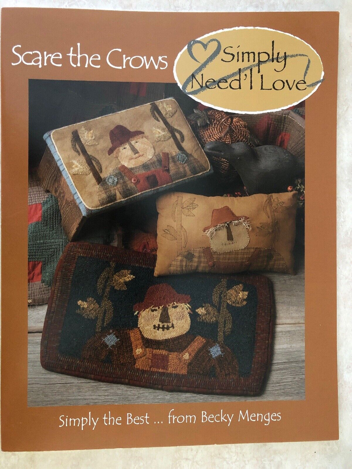 Simply Need L Love Scare The Crows Quilt Wool Applique Penny Rug Hooking