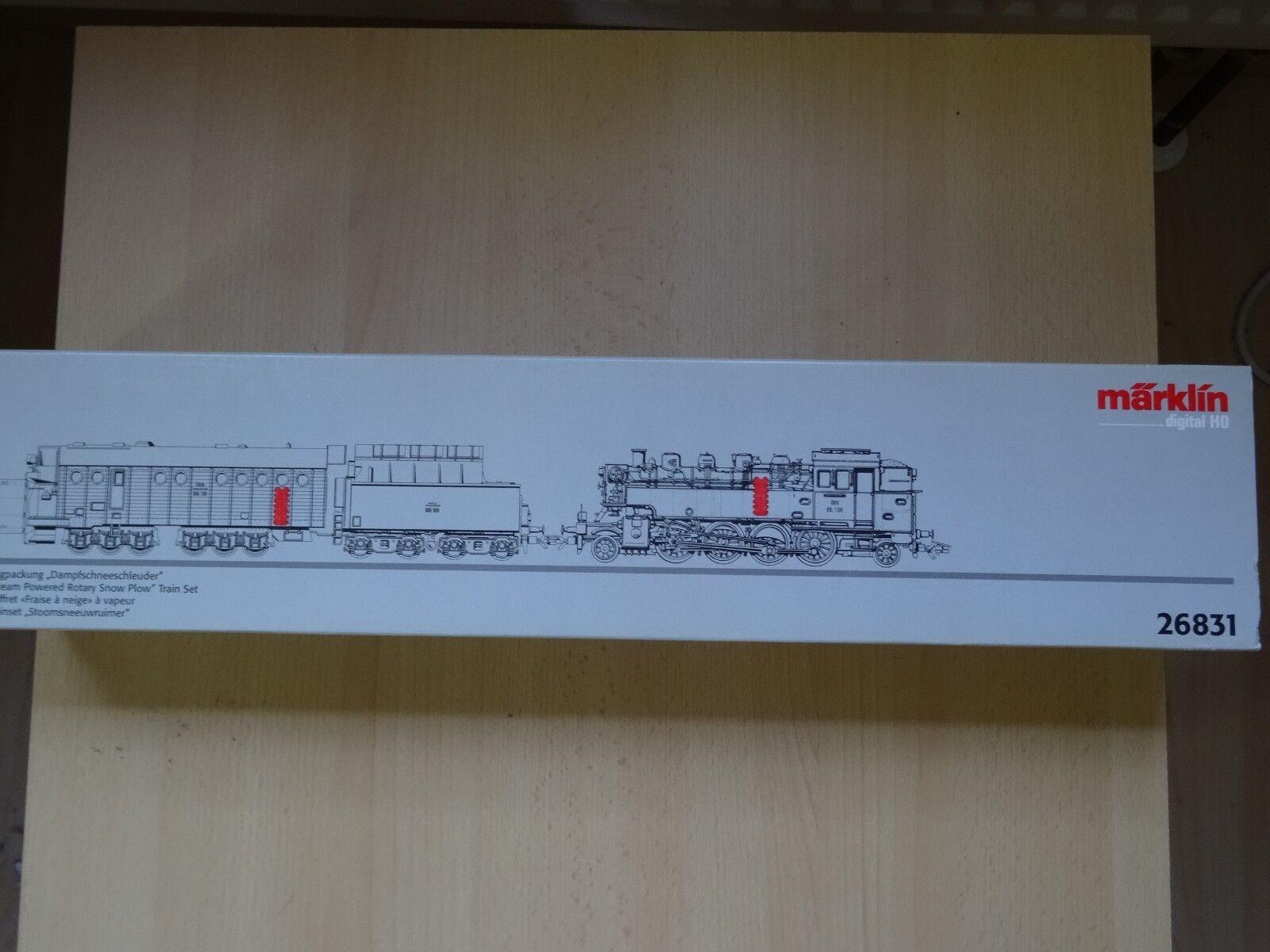 promociones emocionantes Marklin ho Art 26831 26831 26831 dampfschneeschleuder con Lok dig nuevo en el embalaje original  60% de descuento