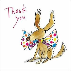 Pack-of-5-Small-Square-Quentin-Blake-Thank-You-Greeting-Cards-Blank-Inside