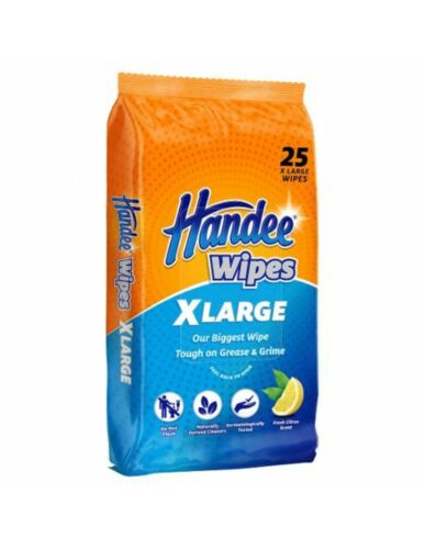 Handee Multi Purpose Extra Large Cleaning Wipes 25 Pack x 6