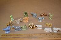 Lot of 17 Wade England Porcelain Figures Fish,Lion,Dog,Rabbit #1788