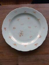 Grand Plat Porcelaine Chine COMPAGNIE DES INDES 31cm 18e Antique Chinese Dish