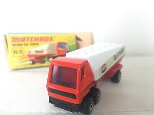 Matchbox-Lesney-Superfast-mit-OVP-Nr-36-Tanker-Altes-Spielzeug-Auto-LKW-WIE-NEU
