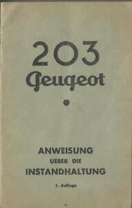 PEUGEOT-203-Betriebsanleitung-1-Auflage-Bedienungsanleitung-Handbuch-Bordbuch-BA