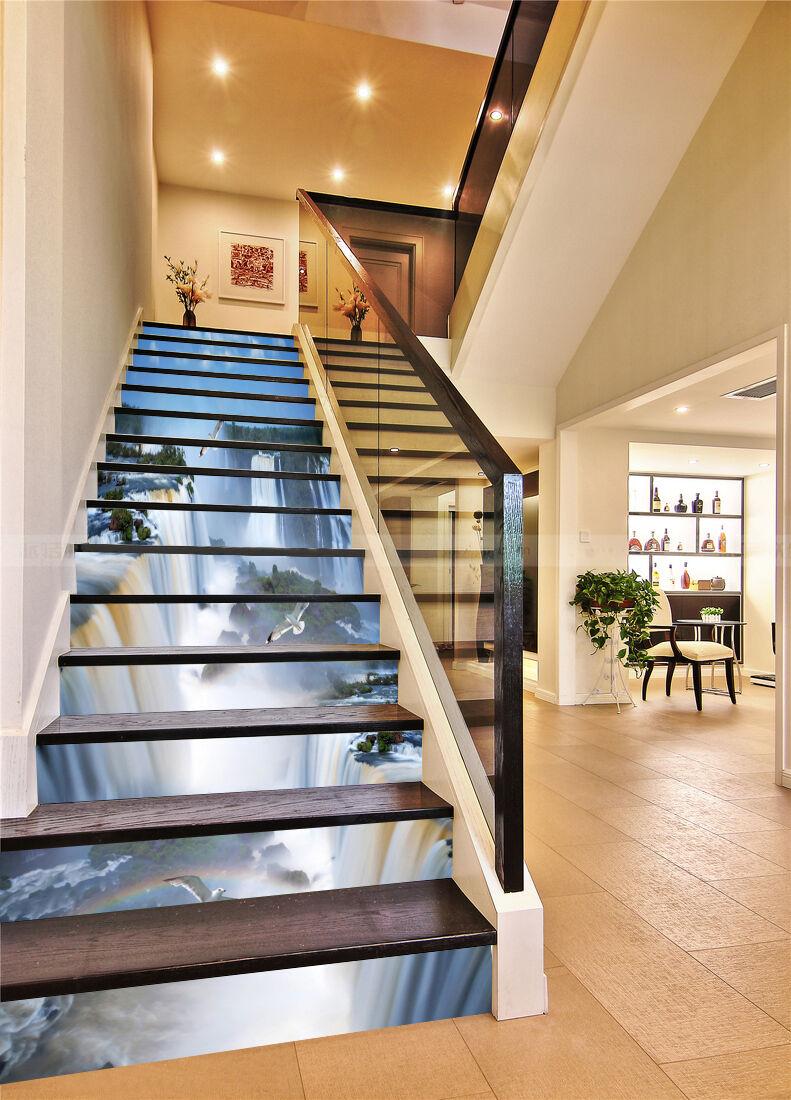 3D Groß Fälle 760 Stair Risers Dekoration Fototapete Vinyl Aufkleber Tapete DE