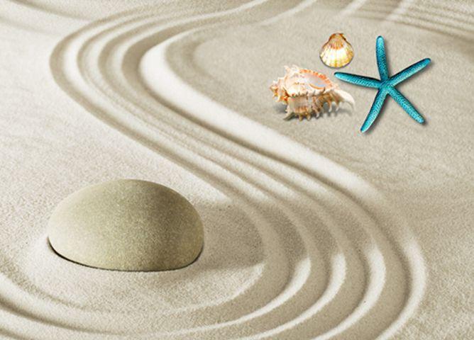 3D suave arena Piso impresión de parojo de papel pintado mural estrellas de mar Calcomanía 5D AJ Wallpaper