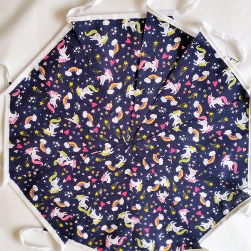 Unicorn Fabric Bunting Handmade Pink Blue Party decor Girl Birthday