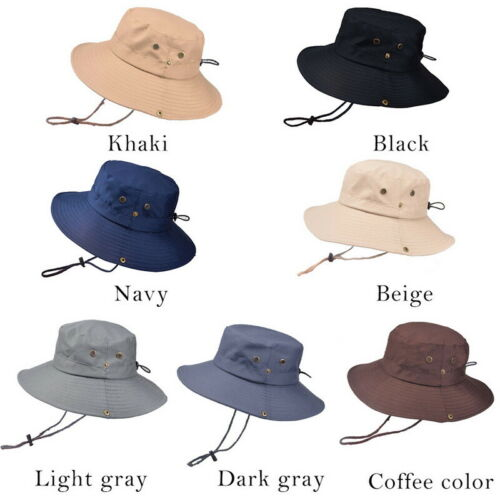 Summer Men/'s Sun Hat Bucket Fishing Hiking Cap Wide Brim UV Protection Hat ILC