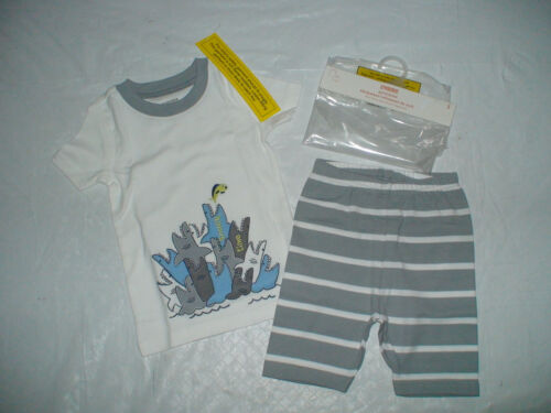 NWT GYMBOREE SNACK TIME SHARKS OCEAN 2 PIECE SHORTS GYMMIES PAJAMAS SUMMER