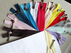 20stuck-Zipper-10cm-22cm-YKK-Ziplon-3C-Zipper-Zipper-Fermuar-Cipzar