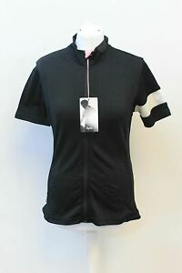 RAPHA-Ladies-Classic-Jersey-Black-Wool-Blend-Short-Sleeve-Cycling-Top-L-NEW