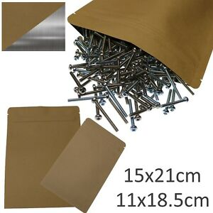 Resealable-Zip-Lock-Foil-Lined-Kraft-Paper-Bags-Heat-Sealable