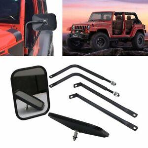 2pc-Bolt-on-Door-Hinge-Mirror-Set-Safari-Mirrors-for-Jeep-Wrangler-JK-2007-2018