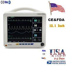 12 INCH 6-parameter ICU Vital Sign Patient Monitor ECG NIBP SPO2 Blood pressure