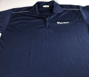 Taylor-Made-Polo-Shirt-VTG-90s-Fits-Mens-Large-Blue-Dri-Fit-Golf-1-4-Zip-Golfer