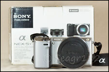 Sony Alpha NEX-5T 16.1 MP Digital Camera - Silver (No Lens) - 500 Clicks - LNIB
