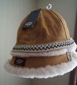 4f320ecc4 Details about UGG Australia Women's One-Size-Fits-Most Sherpa Shearling  bucket winter fur hat