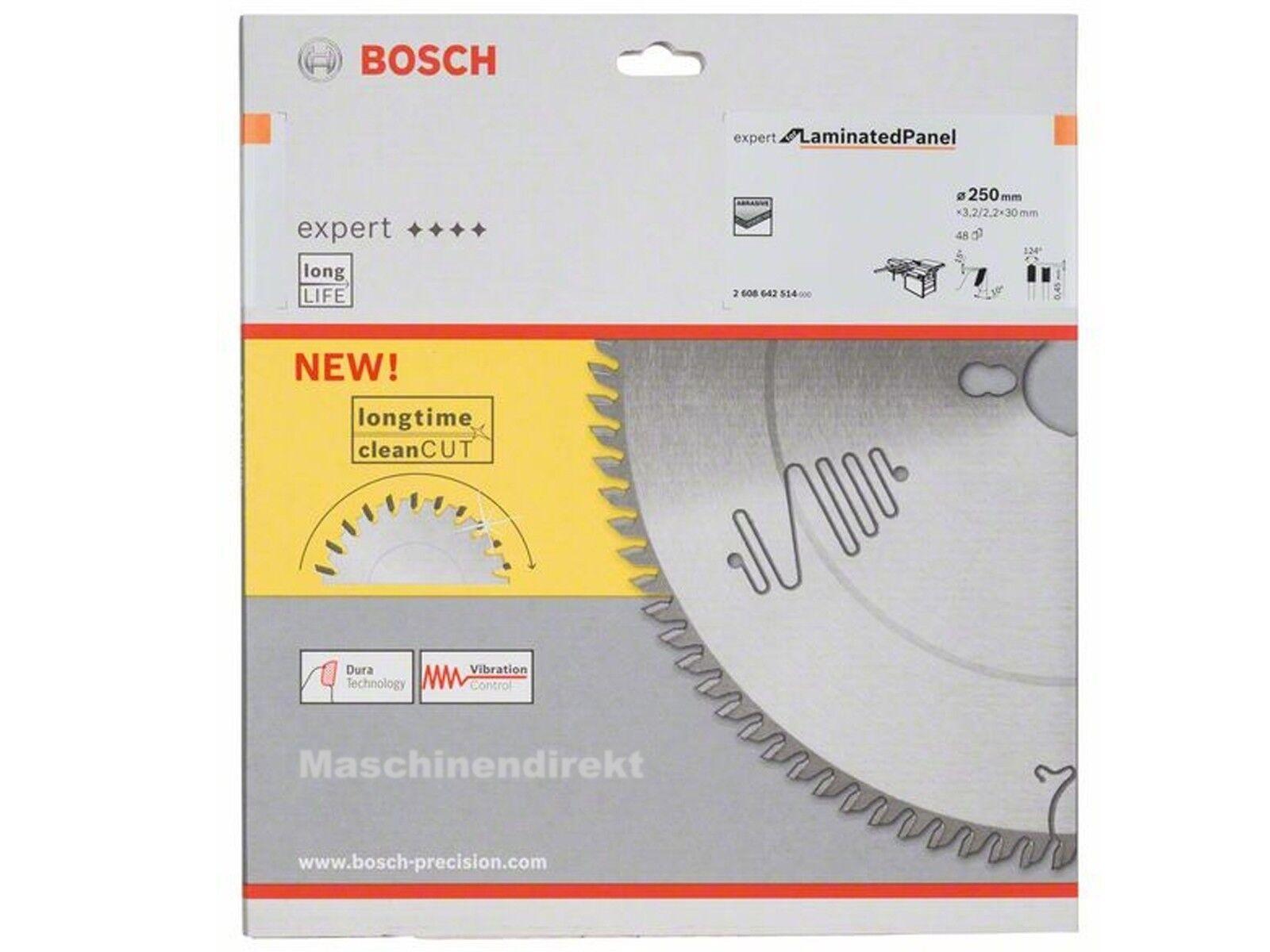 Bosch Kreissägeblatt  2608642514 Expert  Laminated Panel Sägeblatt 250 x 30 Z 48