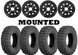 Kit 4 Sedona Coyote Tires 25x8-12/25x10-12 on ITP Delta Steel Black 12mm 1KXP