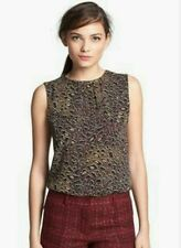 TORY BURCH Leopard Print Silk Sleeveless Top size 4, A  Runway Collection