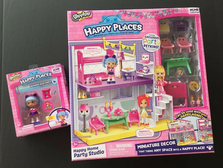 NIB Shopkins Happy Places Happy Home Party Studio Riana Radio Lil' Shoppie Doll