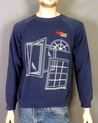 vtg 80s 90s retro Bilt Best Windows Raglan Sleeve