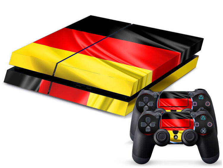 Sony PS4 PLAYSTATION 4 Skin Design Sticker Screen Protector Set - Germany 2