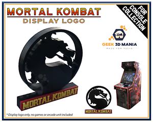MORTAL-KOMBAT-Logo-Deco-pour-Collection-Jeux-Videos-Retro-Arcade-Display-Geek