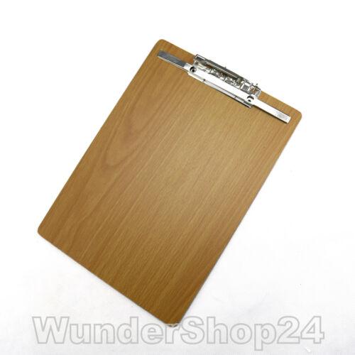Klemmbrett Clipboard blanko Bescrappen DIN A4 Holz Schreibplatte B-Ware Nr 4