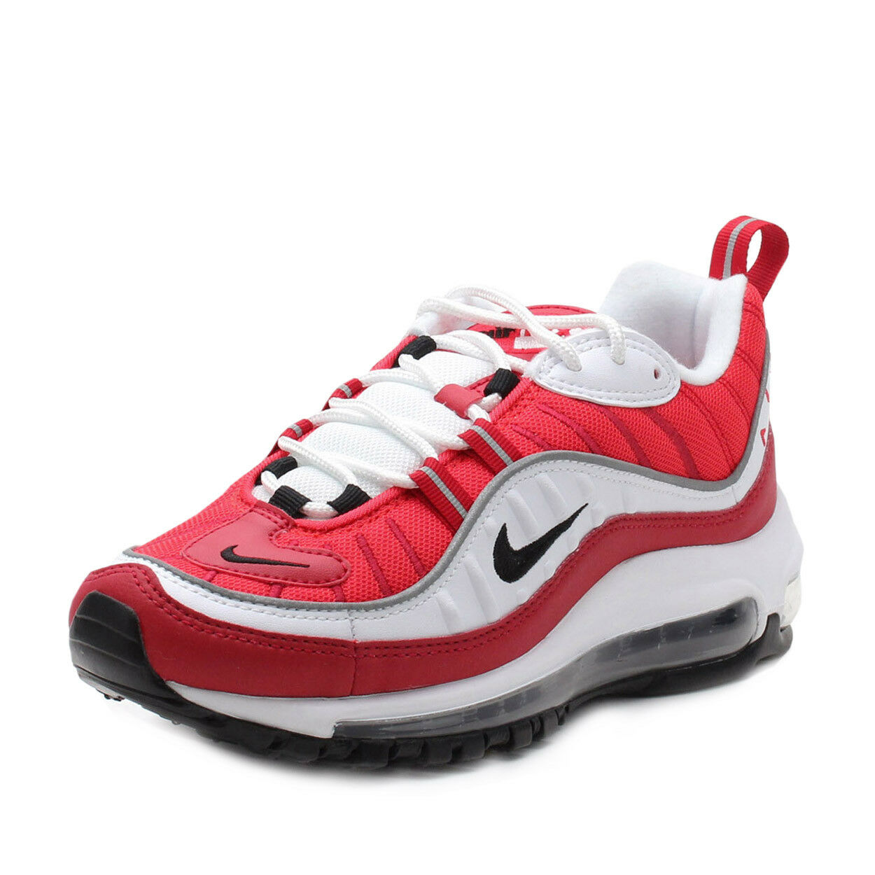 Nike Womens W Air Max 98 White/Black-Red Comfortable