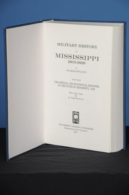 MILITARY HISTORY OF MISSISSIPPI, 1803-1898