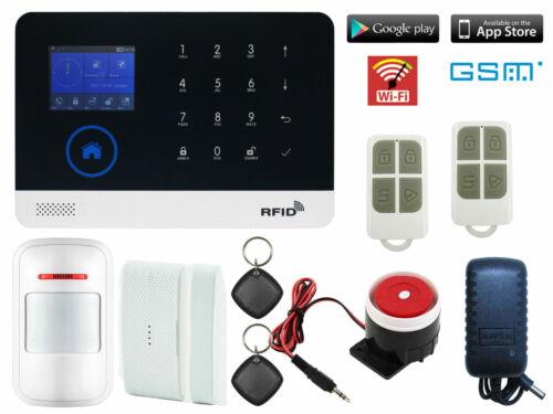 G74 WiFi APP GSM Wireless Home//Office Security Alarm Burglar System+RFID Access