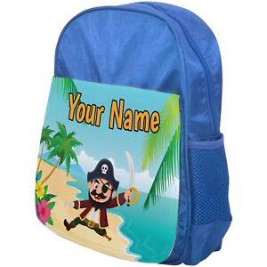 Boys Backpack Pirate School Bag Childrens Kids Rucksack Personalised