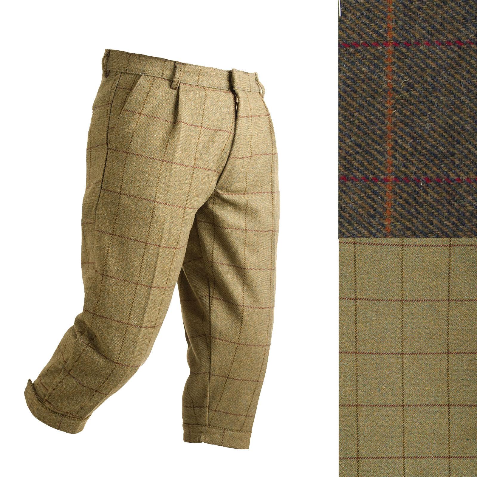 Nuevo Para hombres Alan Paine Tweed Pantalones Ropa de disparo caza breechs Breeks
