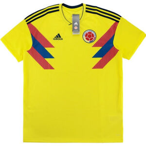 491b6581d Authentic Adidas Colombia World Cup 2018 2019 Home Football Shirt ...
