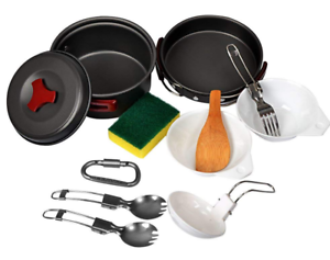 Camping-Cookware-Mess-Kit-Pot-Set-plus-Extras-New-Scouting