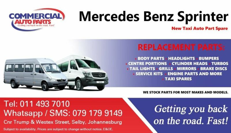 Mercedes Benz Sprinter Parts and Spares For Sale