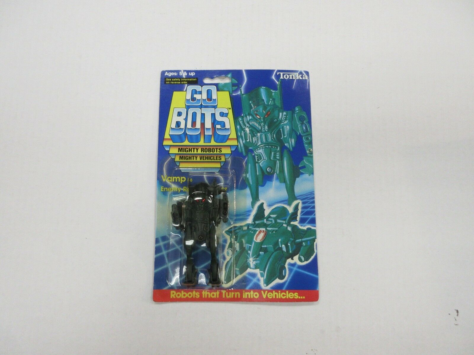 GO BOTS VAMP ROBOT TONKA 1985 BRAND NEW ON CARD