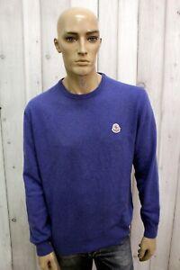 Maglione-MONCLER-Uomo-Taglia-XL-Sweater-Pull-Lana-Pullover-Maglia-Man-Invernale