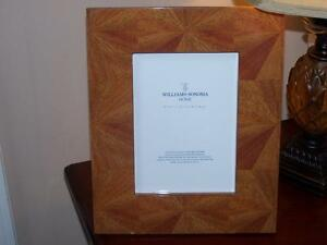 New Williams Sonoma Starburst Natural Wood Frame High Gloss For 5 X 7 Picture Ebay