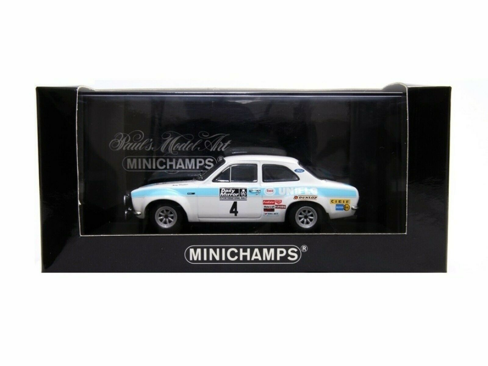 WOW EXTREMELY RARE Ford Escort MkI RS1600 Clark 1st RAC 1972 1 43 Minichamps