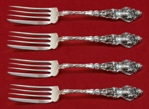 """Furniture Douvaine By Unger Sterling Silver Fish Fork Set 4pc As Custom Made 6 7/8"""""""