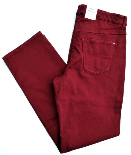 MAC Jeans DREAM straight fit  Stretch dunkel rot Denim Gr.42 L 30 NEU