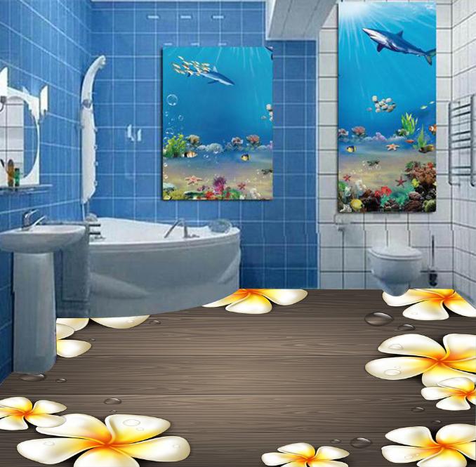 3D Wood Flowers 784 Floor WallPaper Murals Wall Print Decal 5D AU Lemon