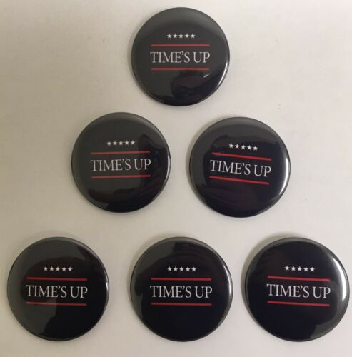 METOO-706 Times Up Blue Special Interest Buttons