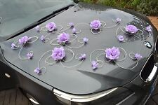 wedding car decoration, ribbon , bows, prom limusine decoration, XXL excl purple
