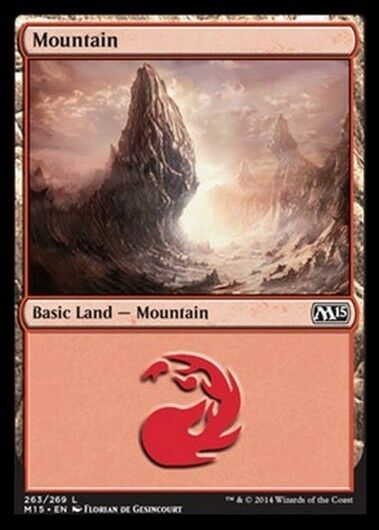 20x Mountain 263 - MTG Magic 2015 M15 eng / ita